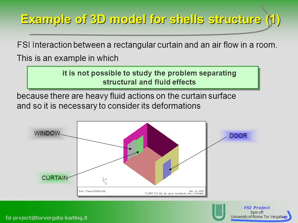 Example of 3D model for shells structure (1)