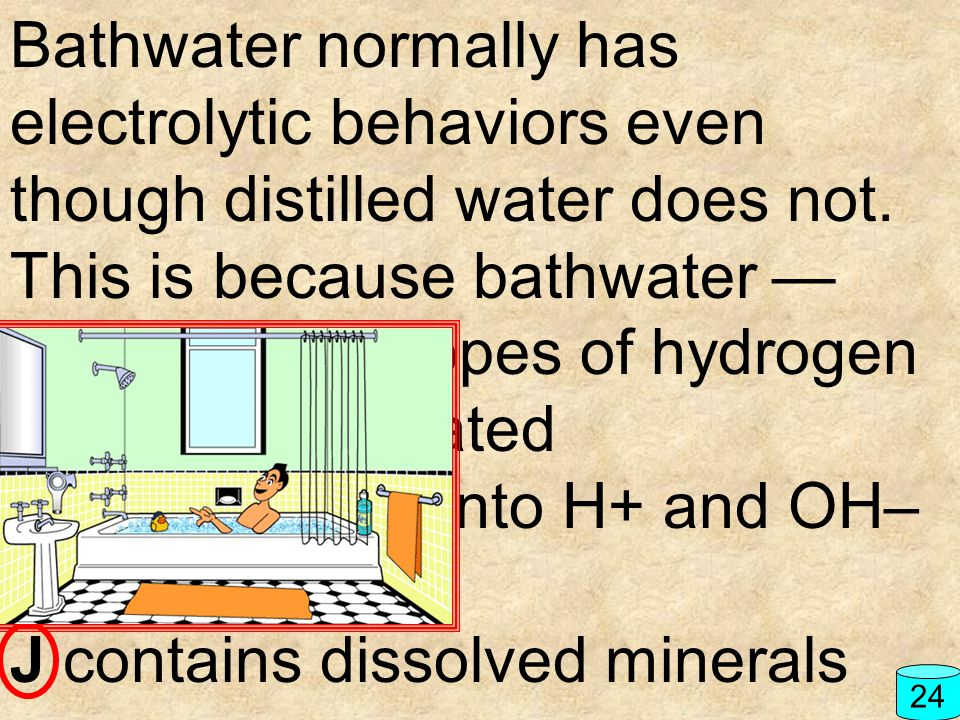 F contains isotopes of hydrogen G has been heated