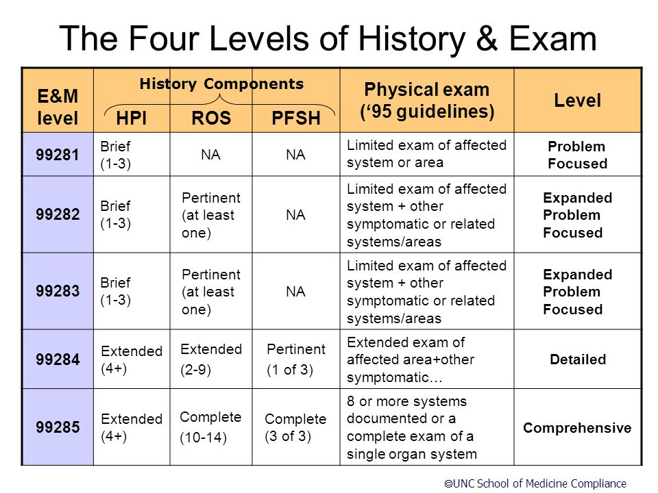 The Four Levels of History & Exam
