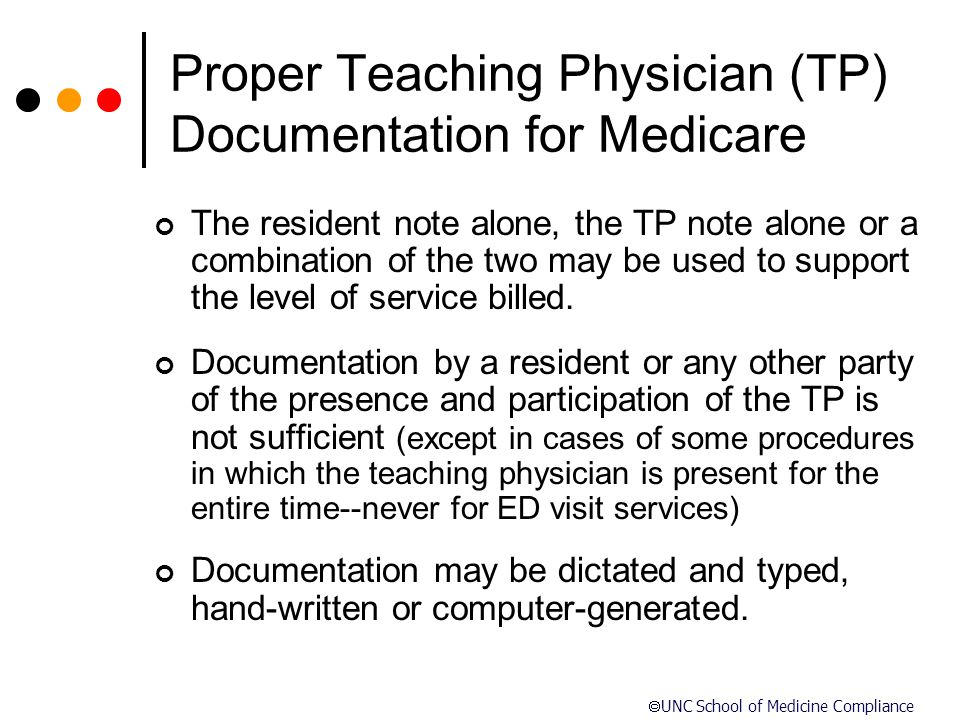Proper Teaching Physician (TP) Documentation for Medicare