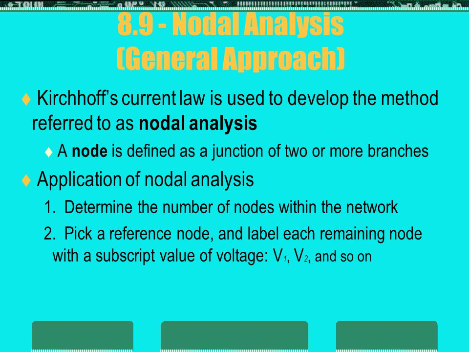 8.9 - Nodal Analysis (General Approach)