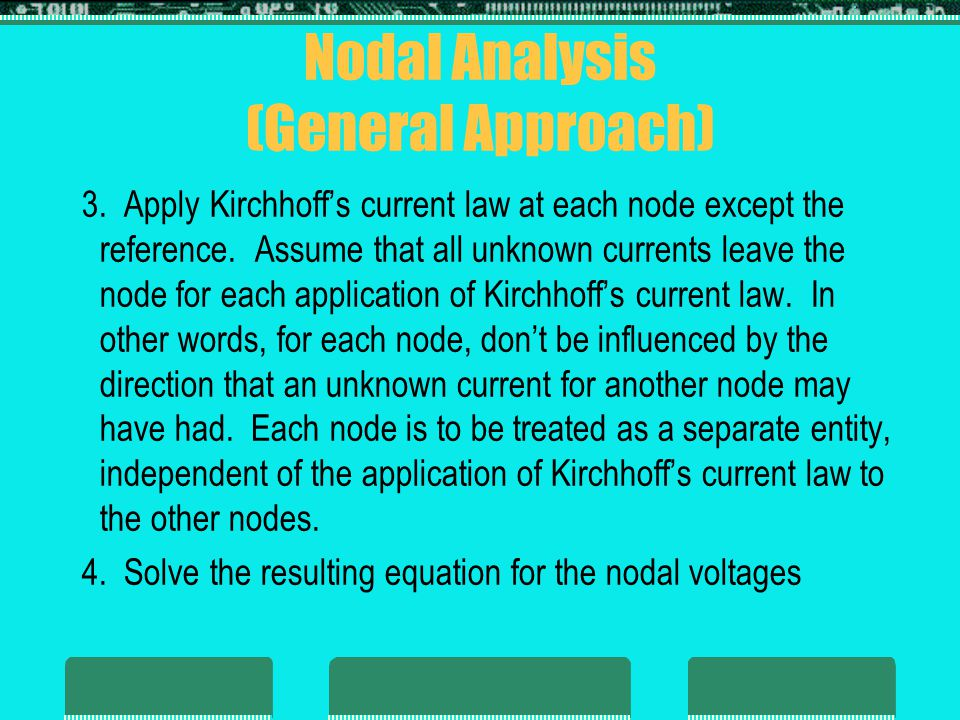 Nodal Analysis (General Approach)