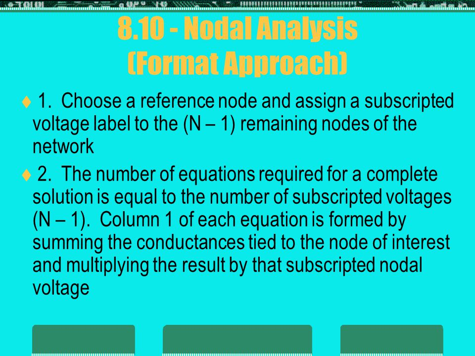 8.10 - Nodal Analysis (Format Approach)