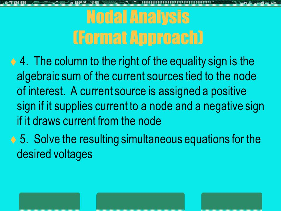 Nodal Analysis (Format Approach)