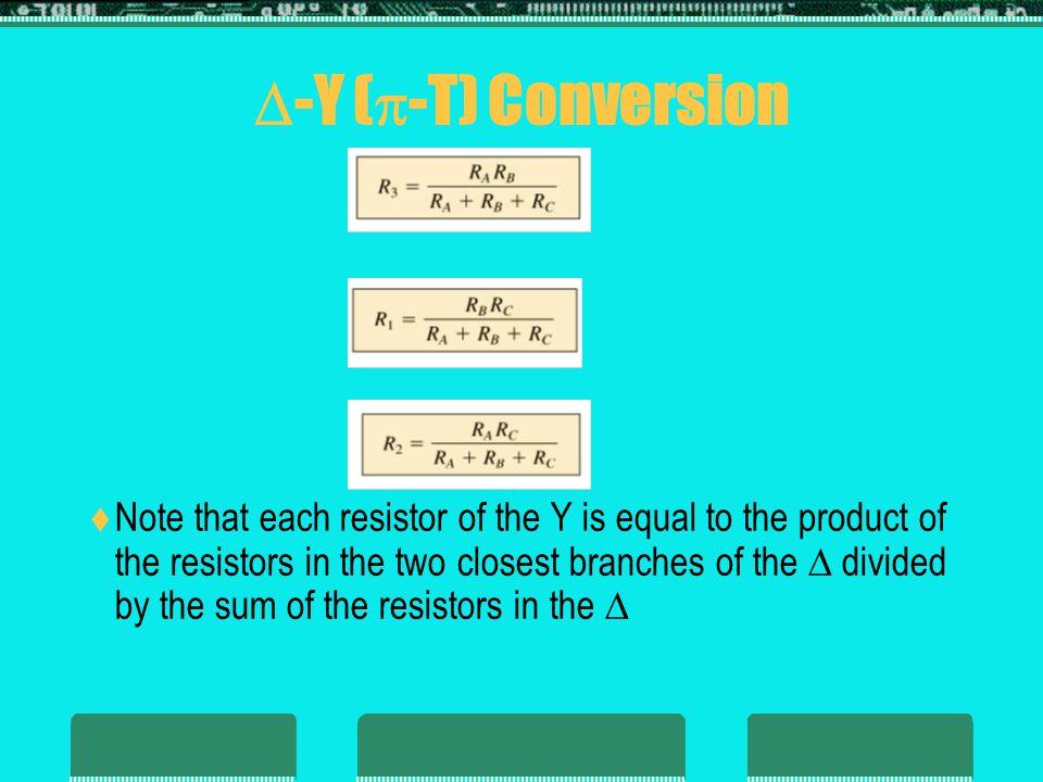 -Y (-T) Conversion