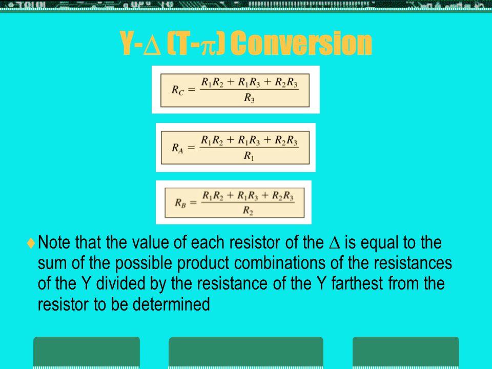 Y- (T-) Conversion