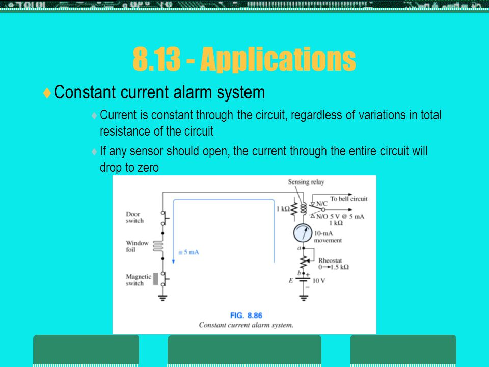 8.13 - Applications Constant current alarm system