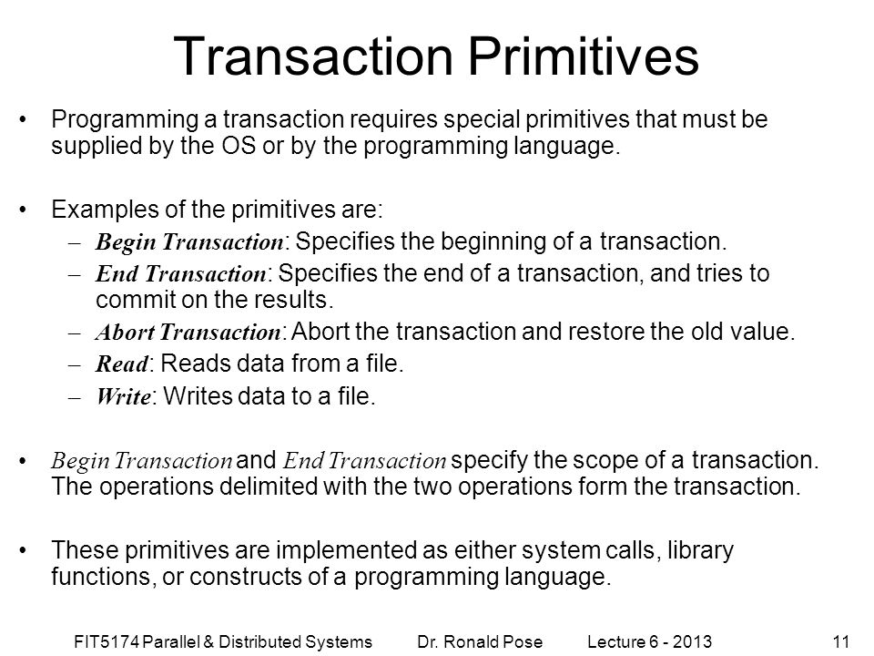 Transaction Primitives