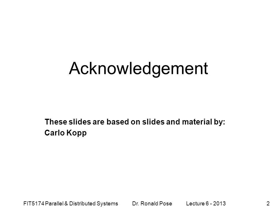 These slides are based on slides and material by: Carlo Kopp