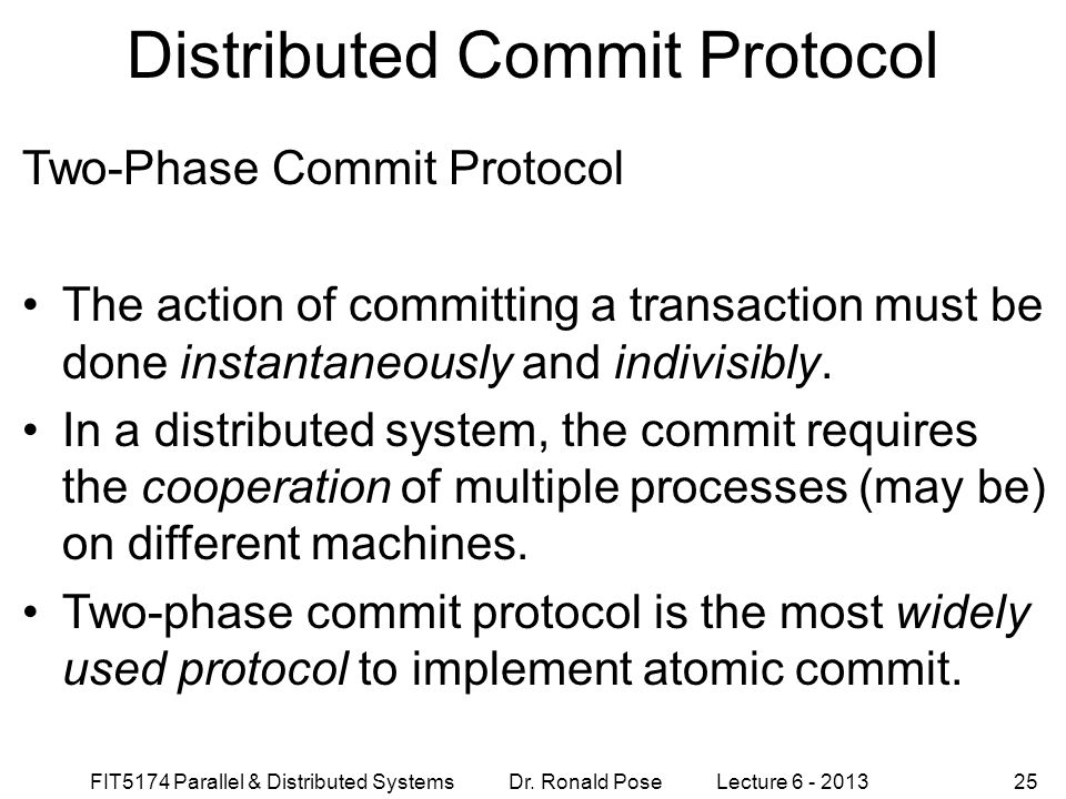Distributed Commit Protocol