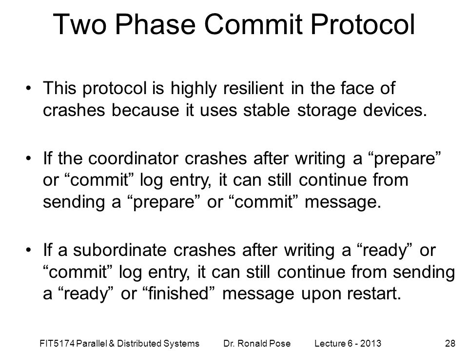 Two Phase Commit Protocol