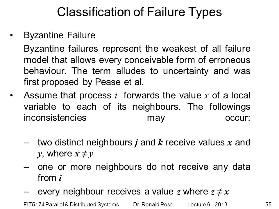 types of failure