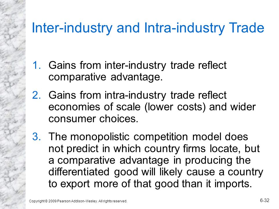 Inter-industry and Intra-industry Trade