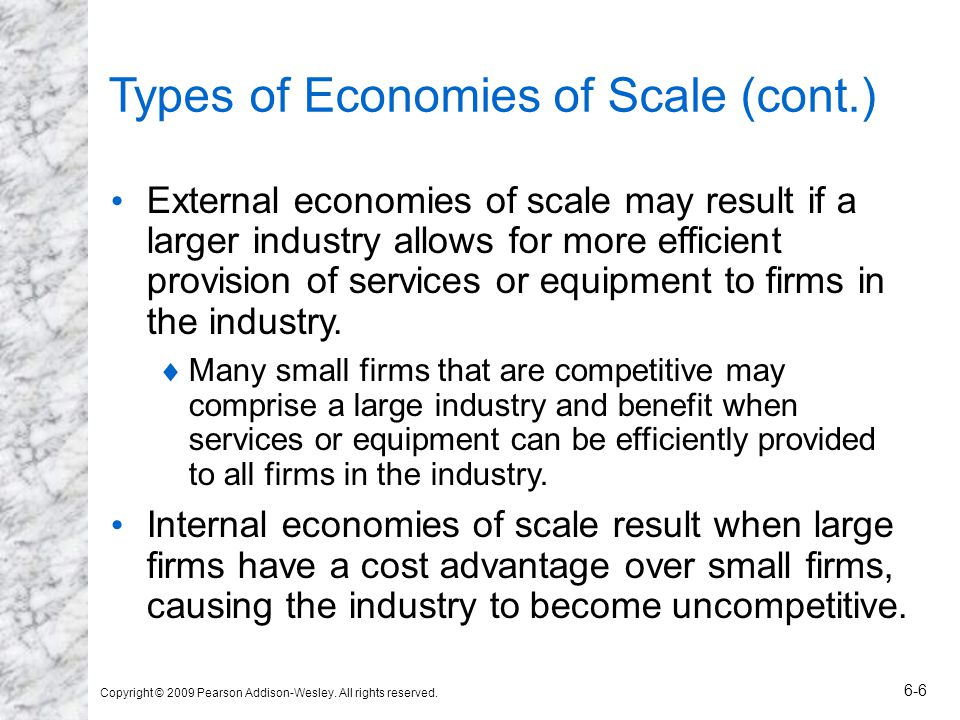 Types of Economies of Scale (cont.)