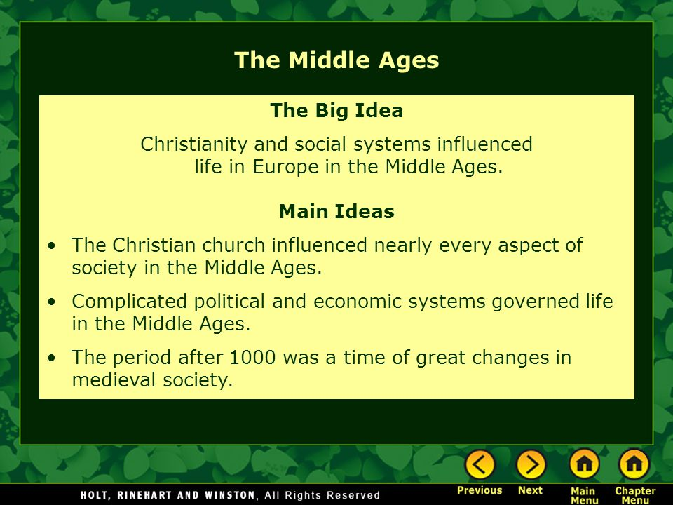 the role the christian church payed in the middle ages society All church in the middle ages  in banu-hanifa tribe specially role  this struggle was followed by the further development of controversy in the arab society.