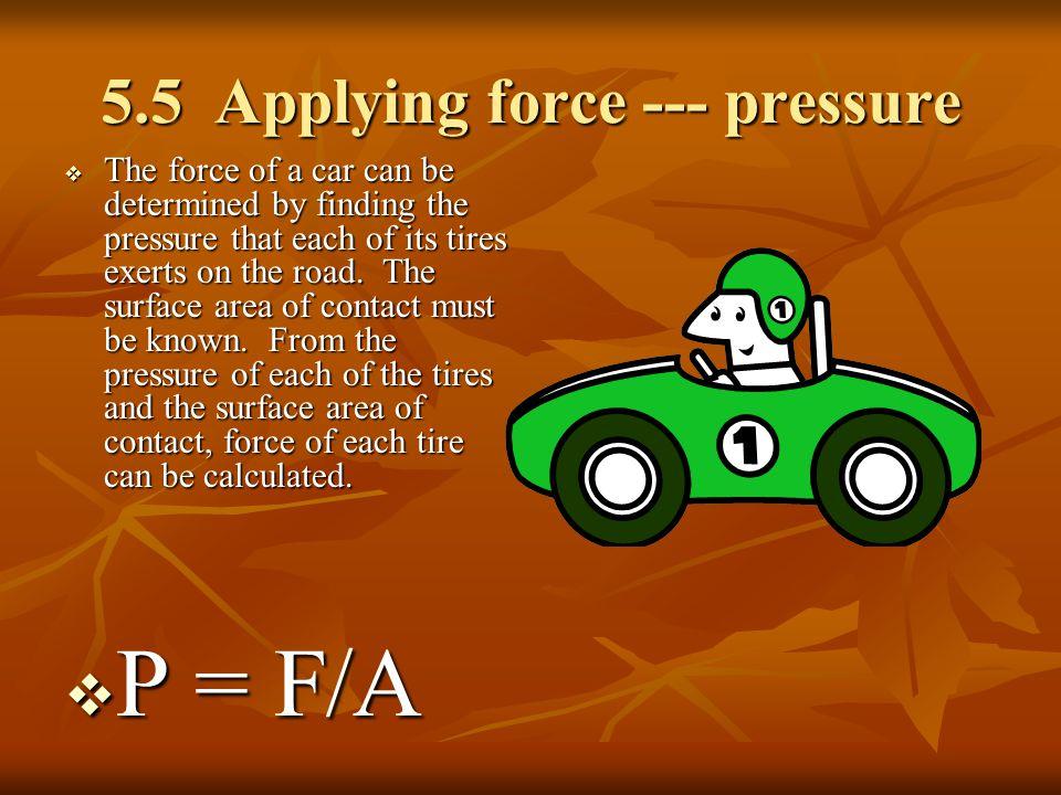 5.5 Applying force --- pressure