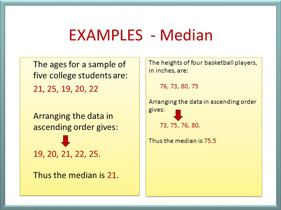 EXAMPLES - Median
