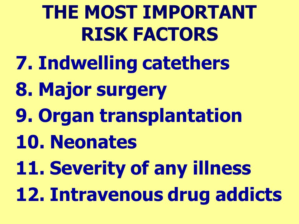 THE MOST IMPORTANT RISK FACTORS