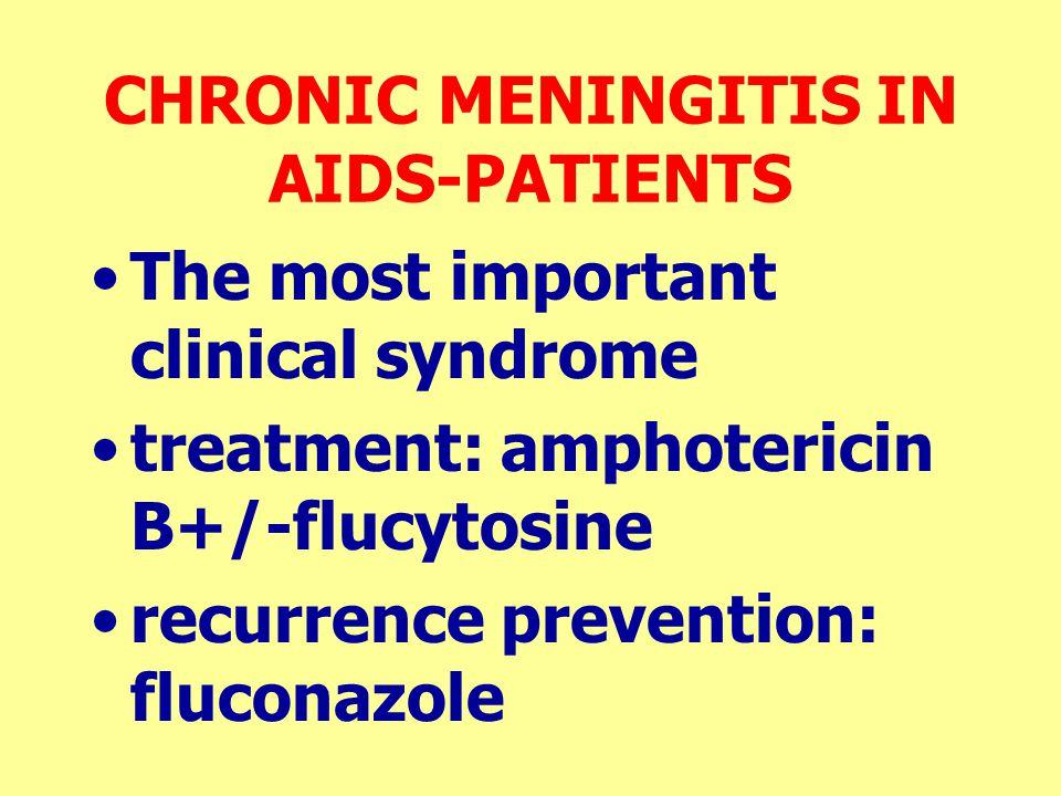 CHRONIC MENINGITIS IN AIDS-PATIENTS