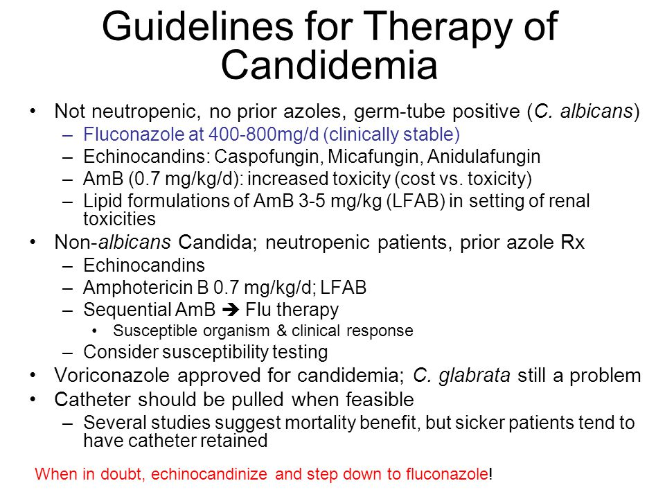 Guidelines for Therapy of Candidemia