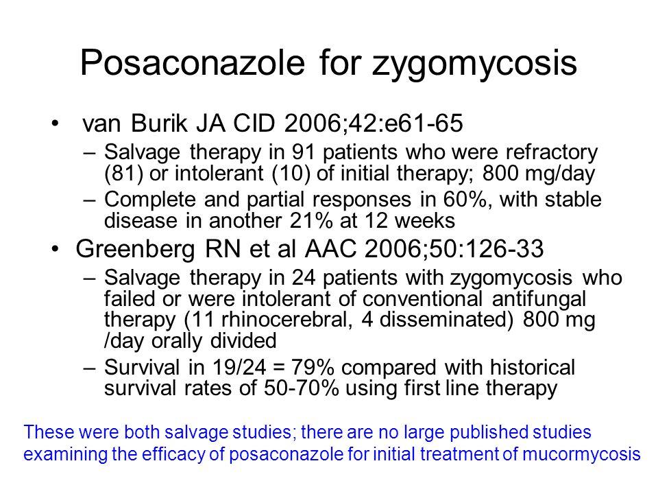 Posaconazole for zygomycosis