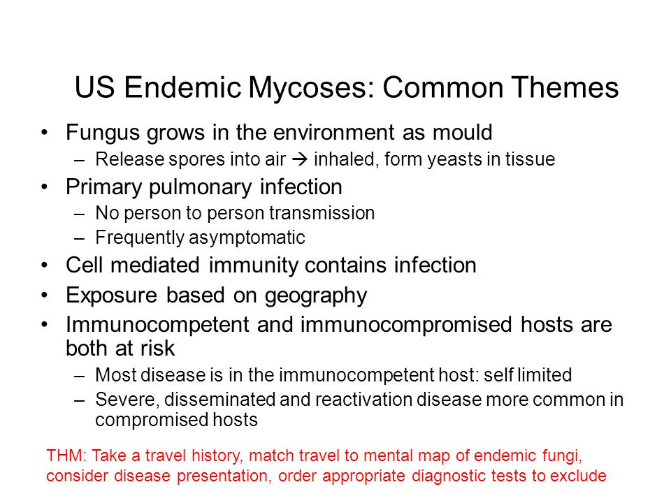 US Endemic Mycoses: Common Themes