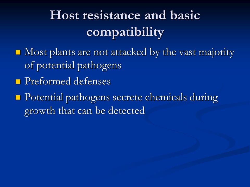 Host resistance and basic compatibility
