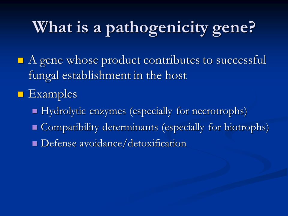 What is a pathogenicity gene