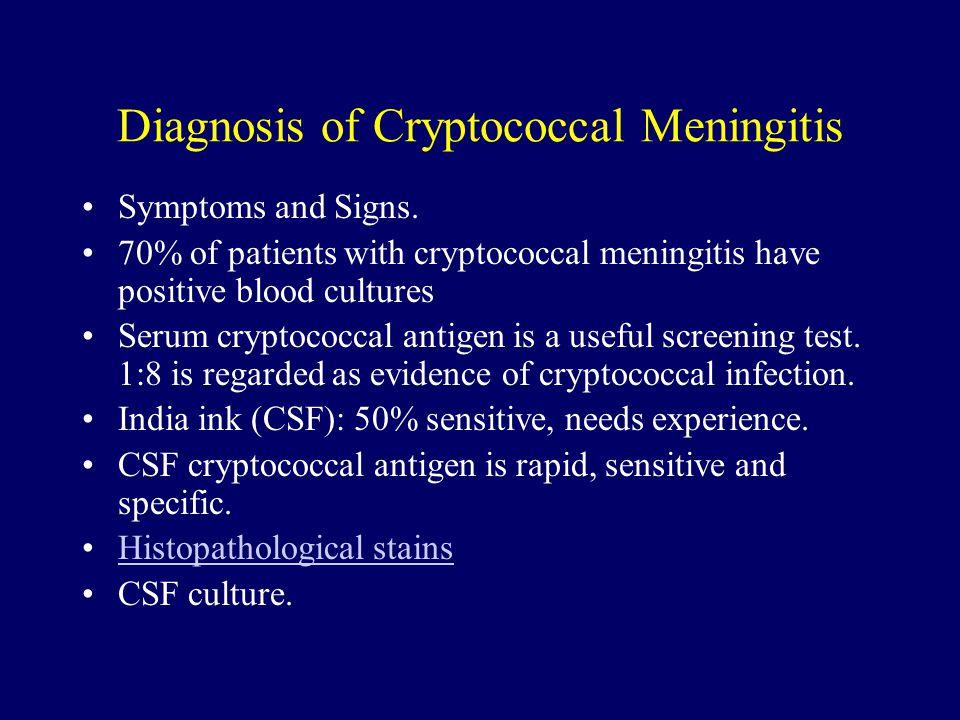 Diagnosis of Cryptococcal Meningitis