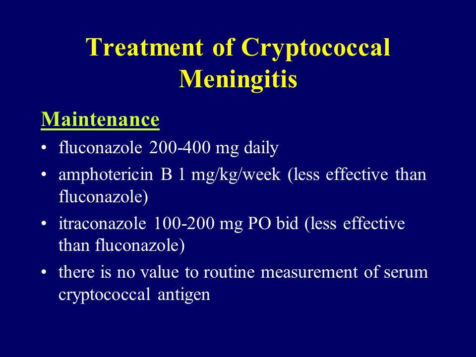 Treatment of Cryptococcal Meningitis
