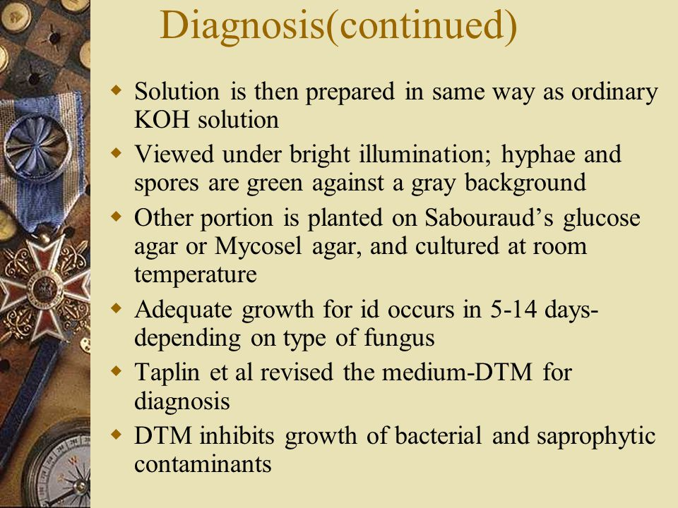 Diagnosis(continued)