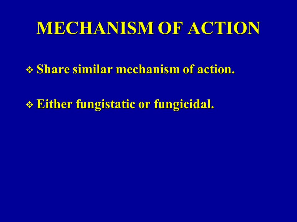 MECHANISM OF ACTION Share similar mechanism of action.