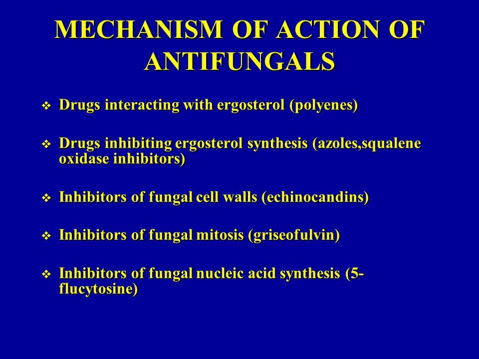 MECHANISM OF ACTION OF ANTIFUNGALS