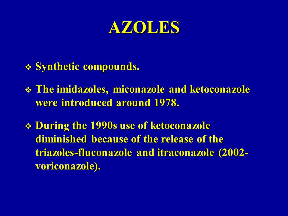 AZOLES Synthetic compounds.