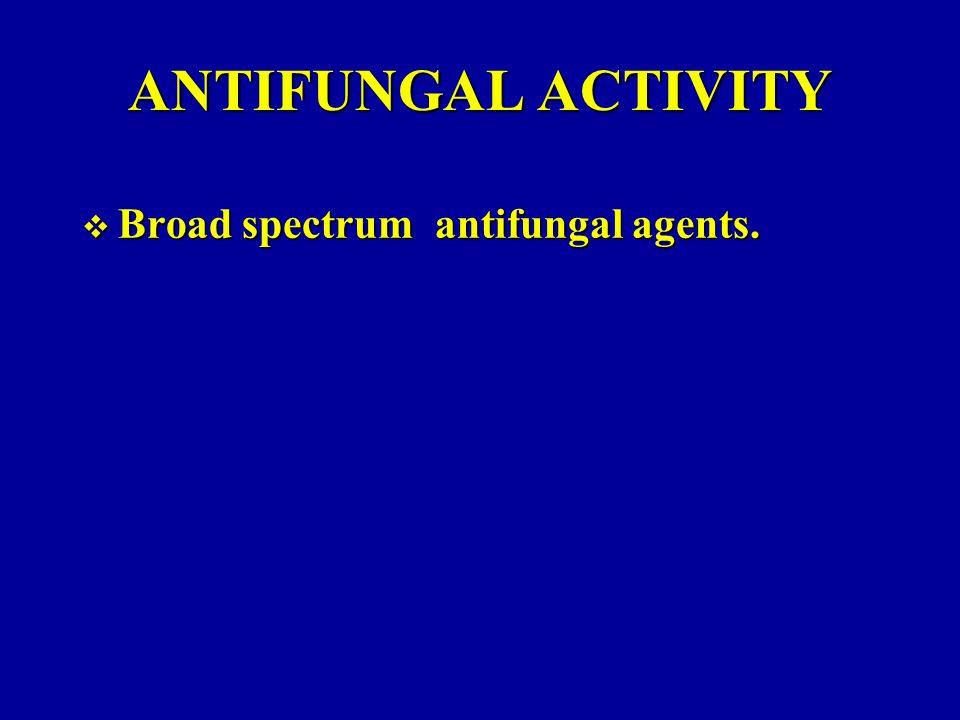 ANTIFUNGAL ACTIVITY Broad spectrum antifungal agents.