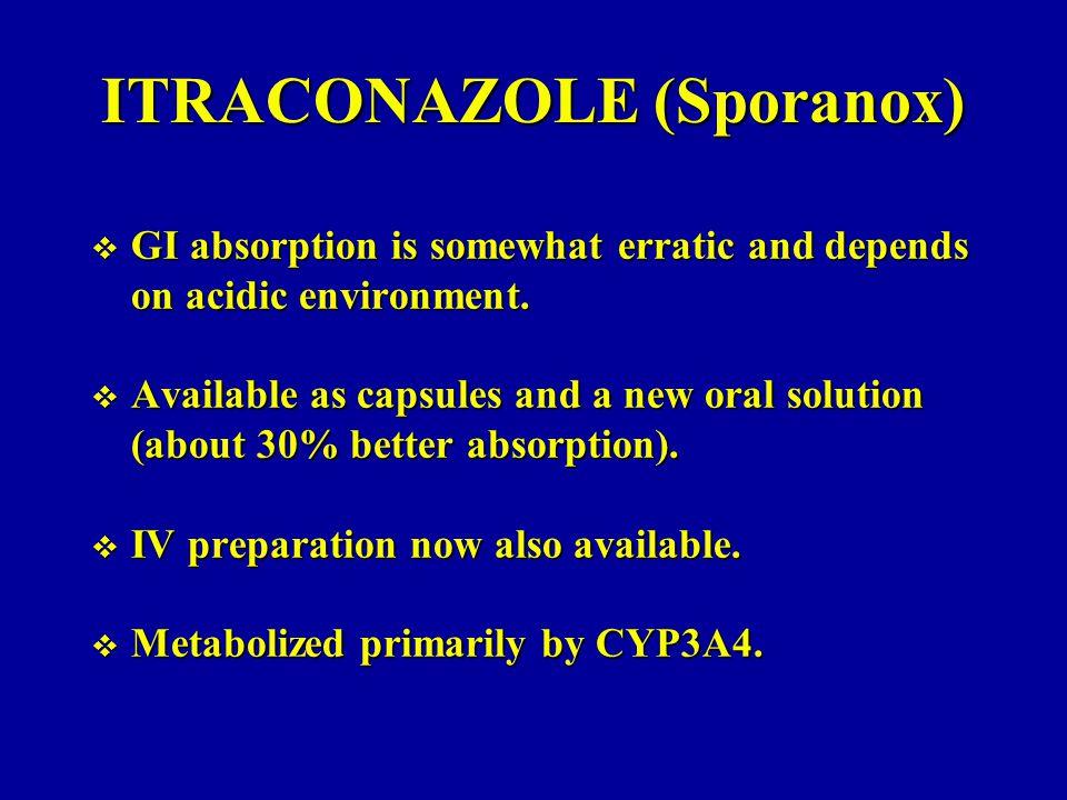 ITRACONAZOLE (Sporanox)