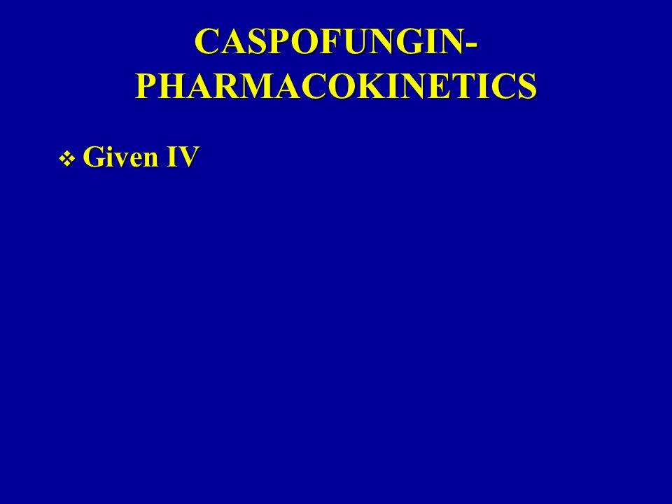 CASPOFUNGIN-PHARMACOKINETICS