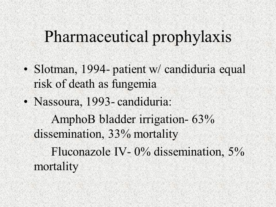 Pharmaceutical prophylaxis