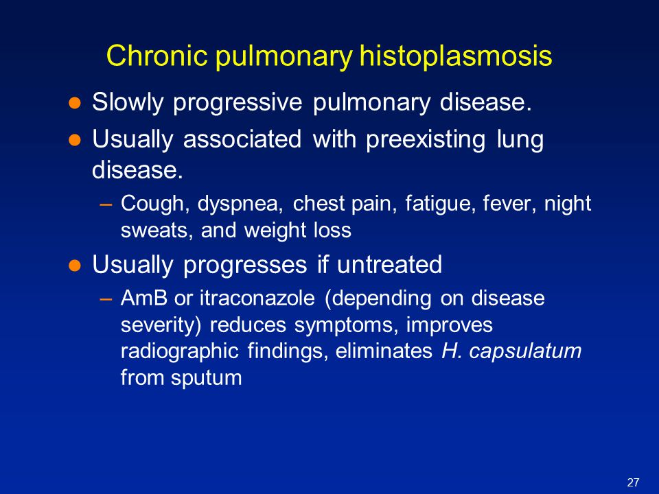 Chronic pulmonary histoplasmosis