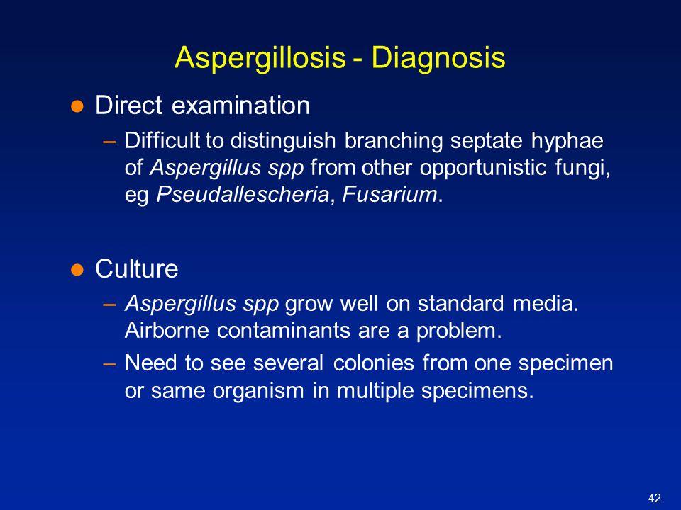 Aspergillosis - Diagnosis