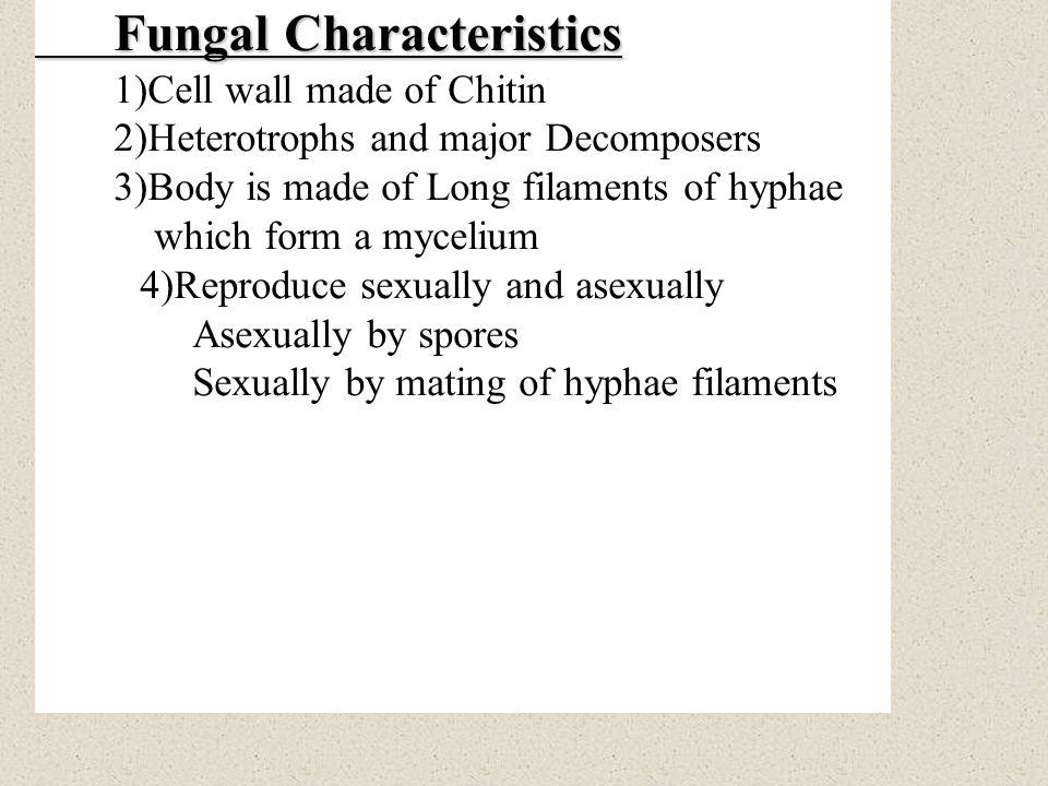 Fungal Characteristics
