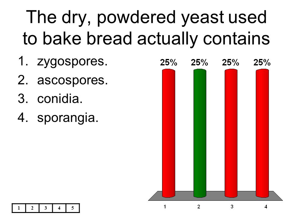 The dry, powdered yeast used to bake bread actually contains