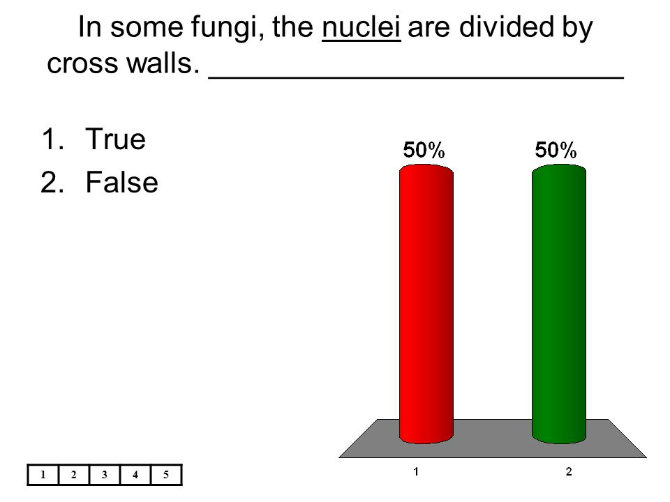 In some fungi, the nuclei are divided by cross walls