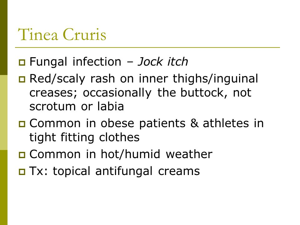 Tinea Cruris Fungal infection – Jock itch
