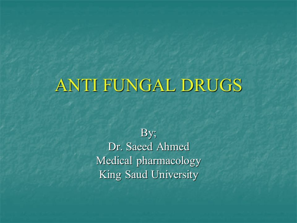 By; Dr. Saeed Ahmed Medical pharmacology King Saud University
