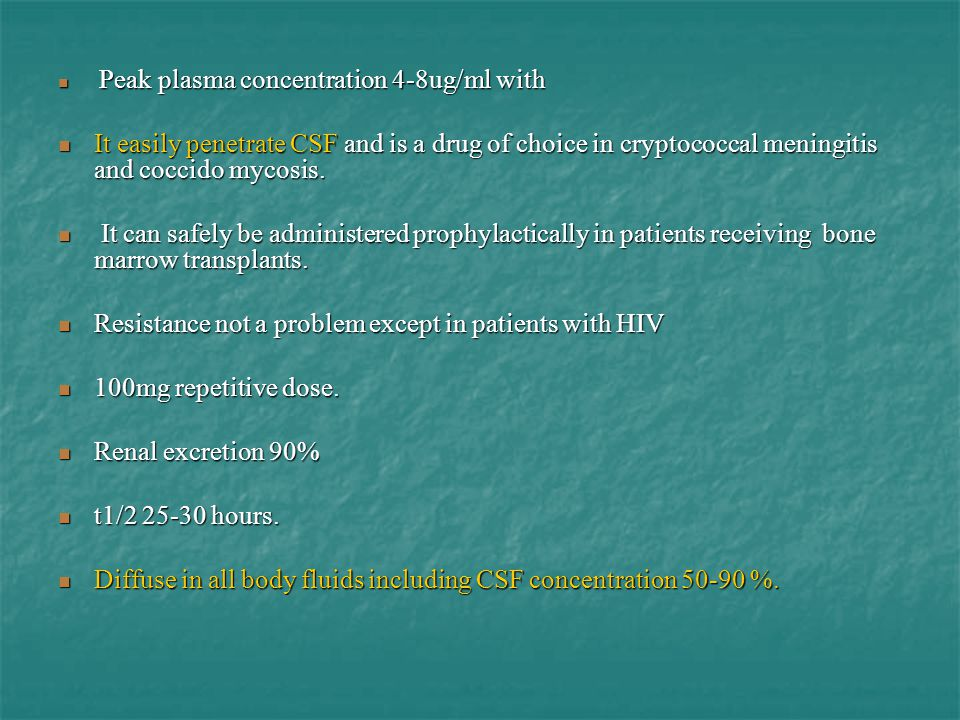Resistance not a problem except in patients with HIV
