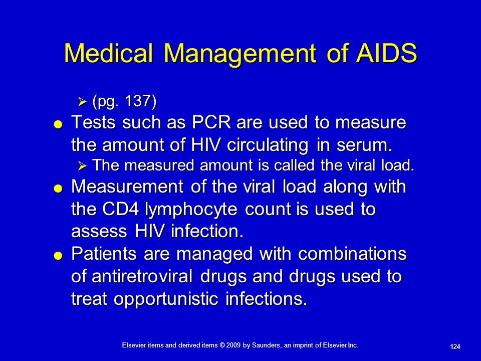 Medical Management of AIDS