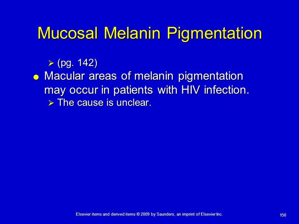 Mucosal Melanin Pigmentation