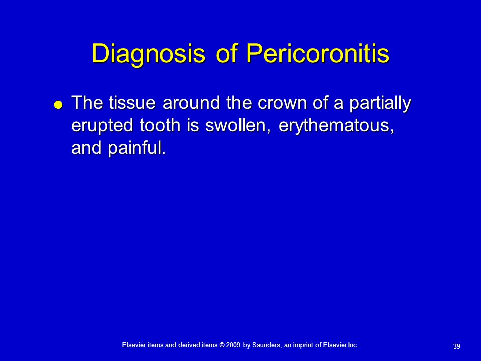 Diagnosis of Pericoronitis