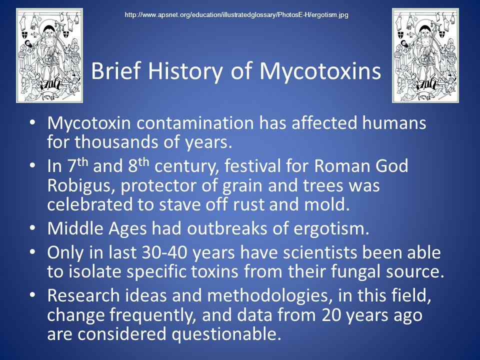 Brief History of Mycotoxins